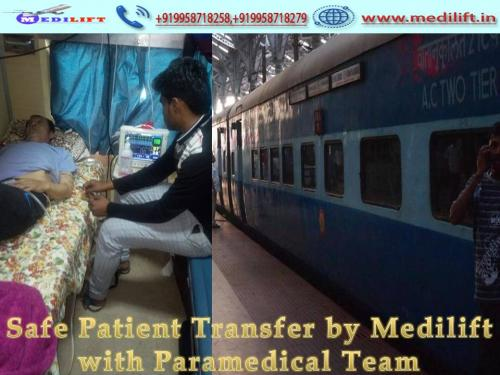 Medilift Train Ambulance from Patna – Cost-Effective Price