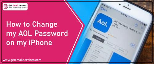 How to change aol email password on iPhone  |18559796504