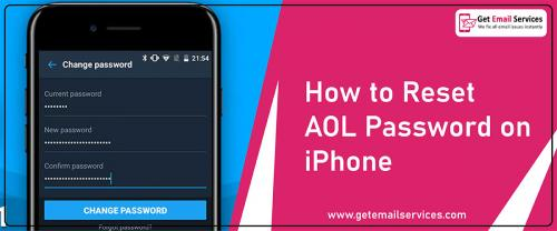 How to change the aol password on iPhone  |18559796504