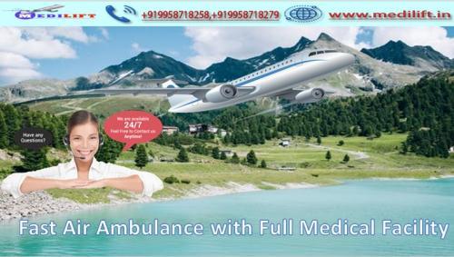 Take Medilift ICU Emergency Air Ambulance Service in Kolkata