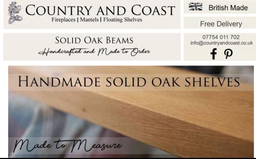 Rustic Oak Mantel cheshire