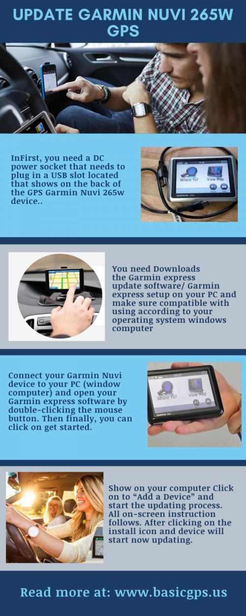 Update Garmin Nuvi 265W GPS
