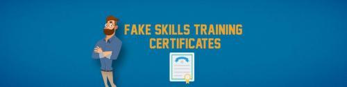 Fake Skills Training Certificates