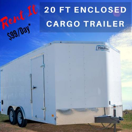 Checkout our new (2020 Haulmark) Enclosed Cargo Trailer