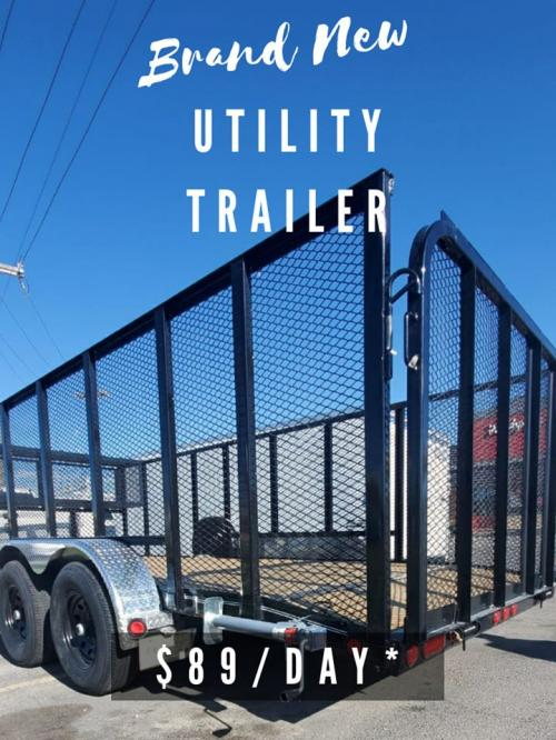 Checkout our brand new 18' Utility Heavy Duty (2021) trailer, comes with the raised channel.