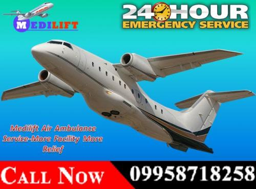 Book Medilift Complete ICU Setups Air Ambulance Service in Ranchi
