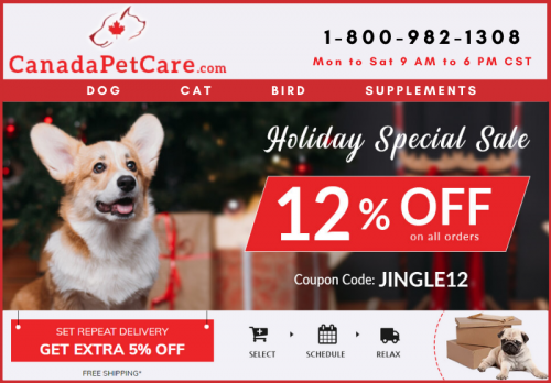 Holiday Special Sale on Pet Health Care Supplies - 12% Discount + Free Shipping