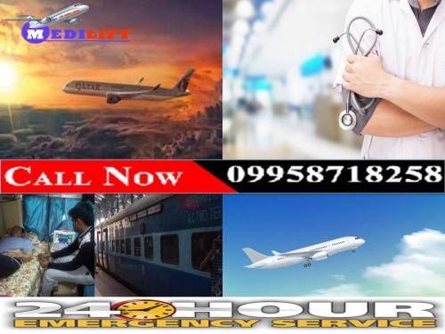 Conduct Medilift Air Ambulance in Guwahati at Low Fare