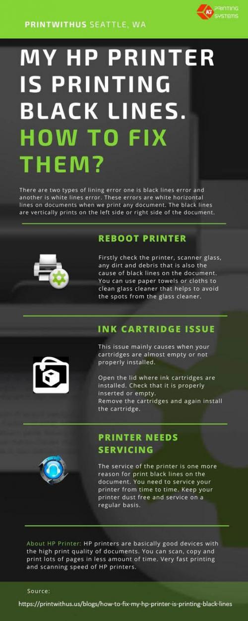 Printer is printing blackline