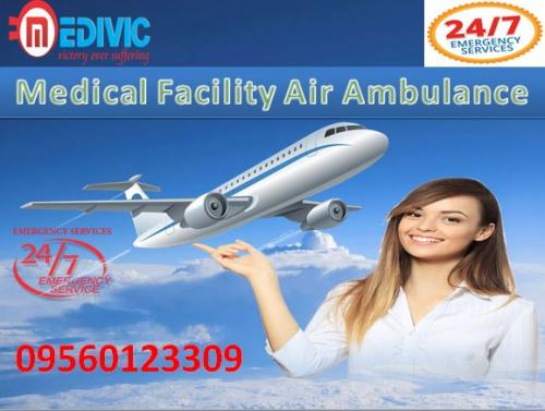 Hire Modern Charter Flight Air Ambulance in Ranchi by Medivic Aviation