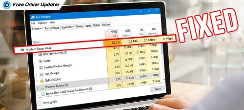 How to-Fix High Disk Usage by Modern Setup Host