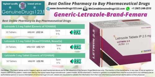 Buy Letrozole Femara 2.5 Mg Tablet at Lowest Cost