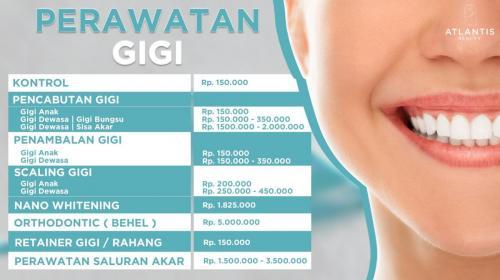 Promo harga gigi klinik atlantis medan