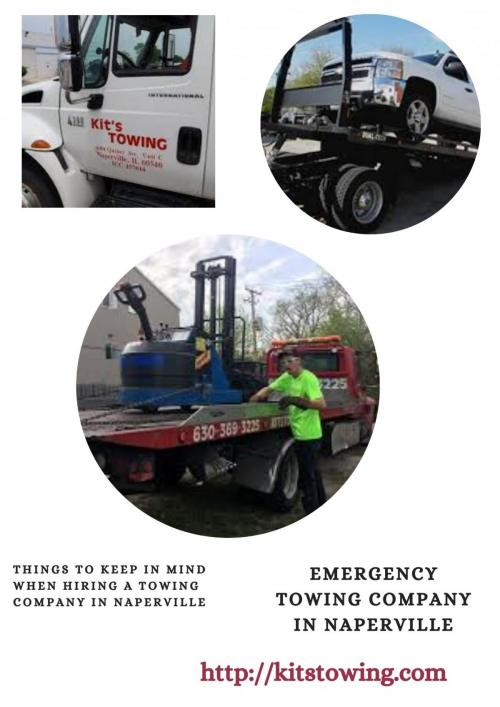 Emergency towing company in Naperville