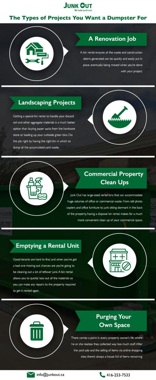 The Types of Projects You Want a Dumpster For