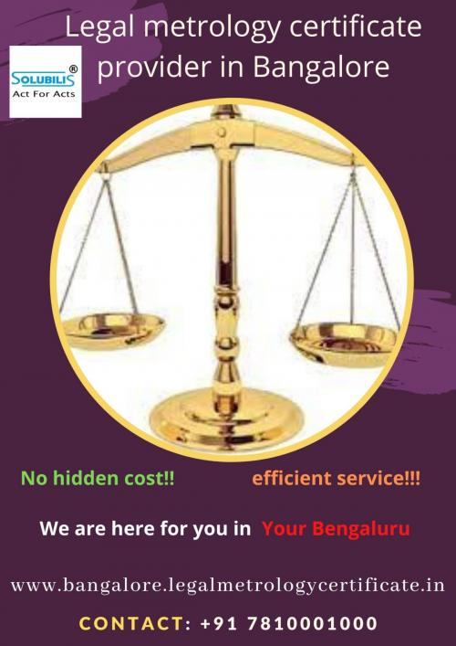 Legal metrology certificate provider in Bangaluru