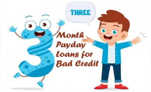 3 Month Payday Loans for Bad Credit – Easy Qualify Money
