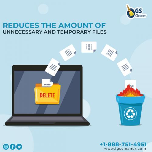 Reduces the Amount of Unnecessary and Temporary Files