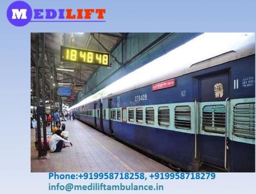 Medilift Train Ambulance in Dibrugarh at With Best ICU Service