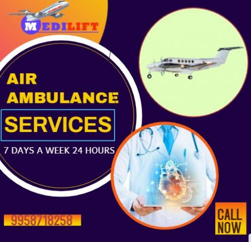 Avail the immediate & Safest Emergency Shifting by Medilift Air Ambulance from Patna to Delhi