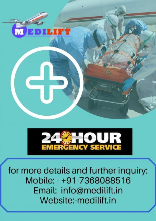 Reliable and Quick Patient Transfer Air Ambulance with Doctor