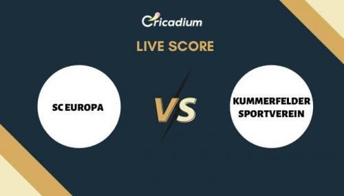 ECS Germany, Kiel, 2021 Live Cricket Score:  1st Semi-Final SCE vs KSV Live Cricket Score Ball by Ball Commentary, Scorecard & Results