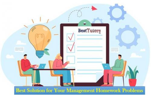 Best Solution for Your Management Homework Problems