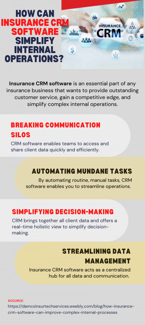 How Can Insurance CRM Software Simplify Internal Operations