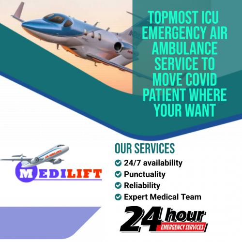 Available 365 Days Medilift Air Ambulance at Low Fare
