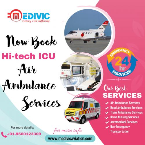 Take Fastest & Low-Cost Air Ambulance Service in Patna & Delhi by Medivic