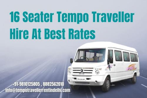 16 Seater Tempo Traveller Hire At Best Rates
