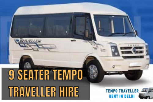 9 Seater Tempo Traveller Hire in Delhi at Affordable rate