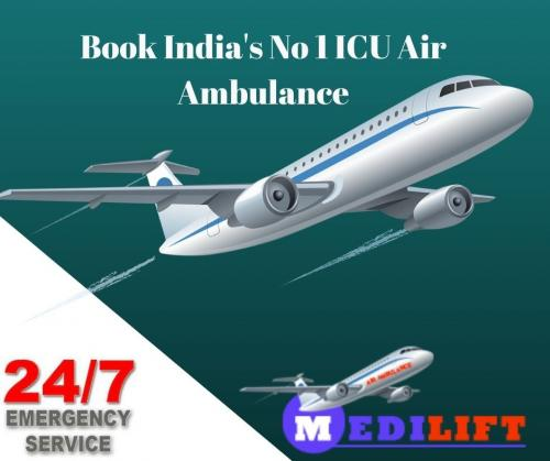 Medilift Complete ICU Support Air Ambulance at Low Fare