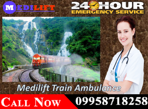 Use Medilift Train Ambulance Service in Patna and Varanasi offer Best and Safe Facility 04