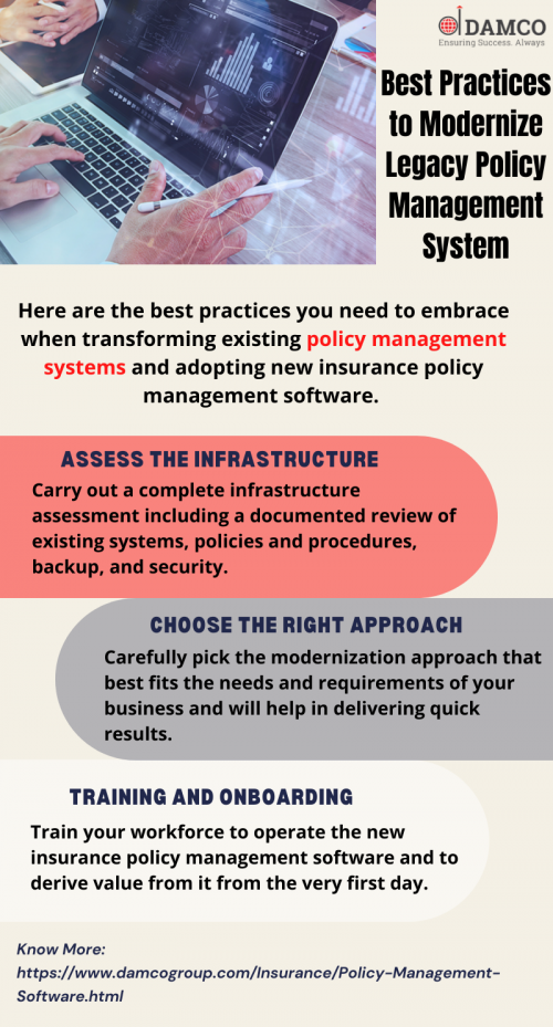Best Practices to Modernize Legacy Policy Management System