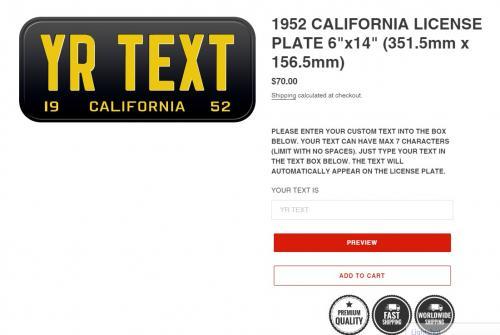 1952 california license plate