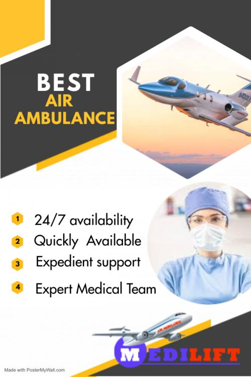 Budget-Friendly Air Ambulance – Medilift with ICU Setups