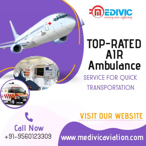 Book the Best ICU Facilitated Charter Airplanes by Medivic Air Ambulance in Patna & Delhi