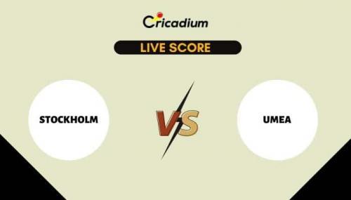 ECS Sweden, Stockholm, 2021 Live Cricket Score: Match 13 STO vs UME Live Cricket Score Ball by Ball Commentary, Scorecard & Results
