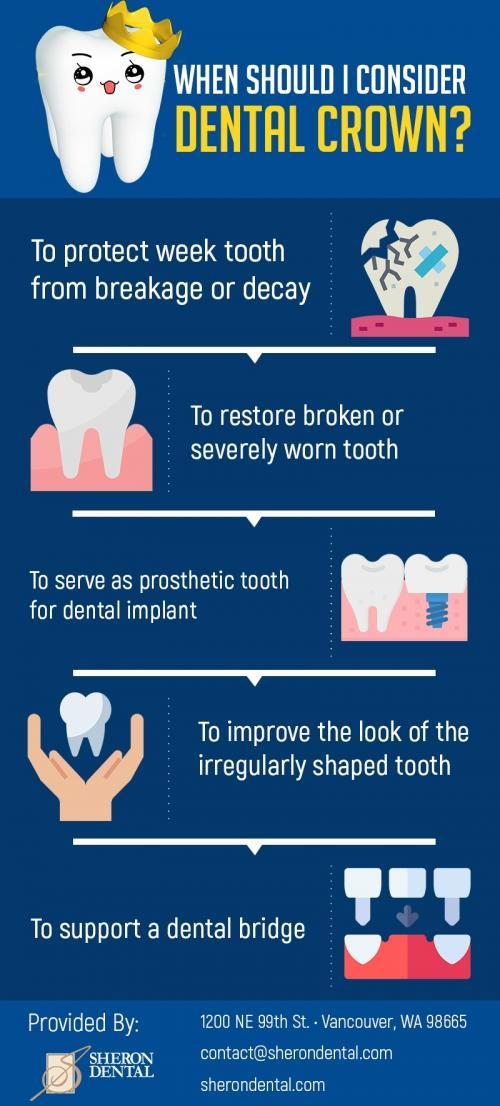 Get Natural-Looking Dental Crowns in Vancouver, WA from Sheron Dental