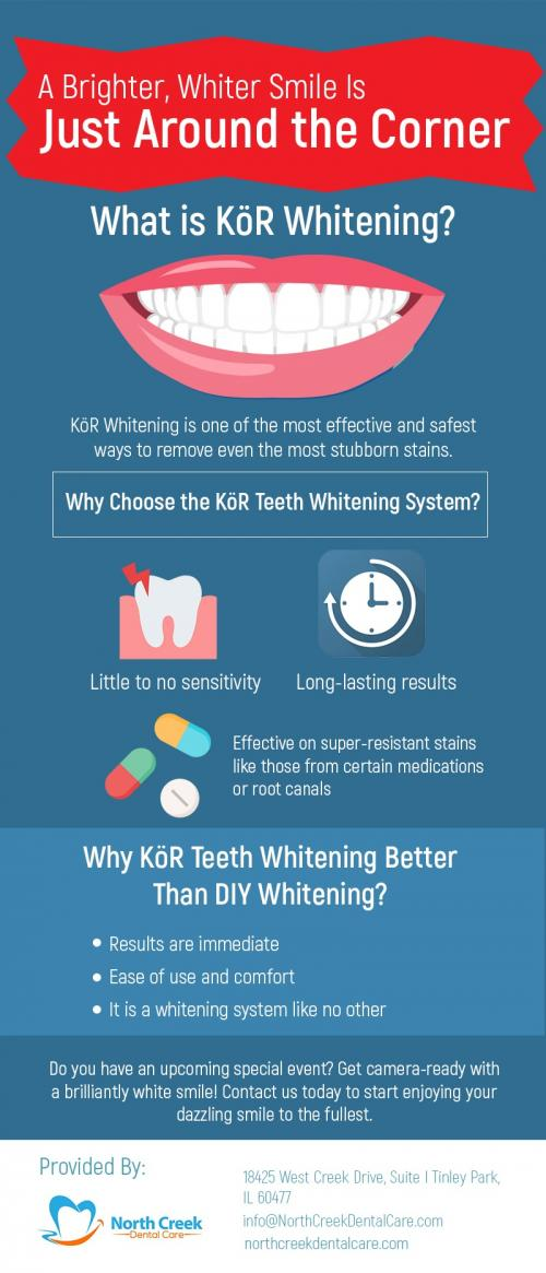 Enhance your Smile with Teeth Whitening Procedure in Tinley Park, IL at North Creek Dental Care