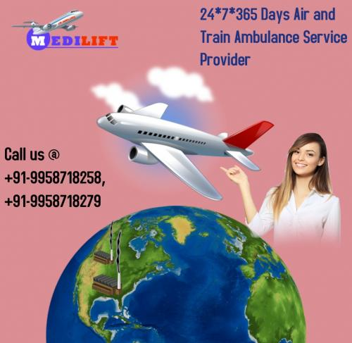 Look Medilift Emergency Charter Aircraft Ambulance in Patna Ranchi