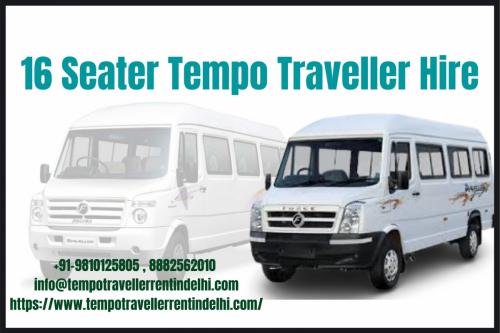 16 Seater Tempo Traveller for Rent in Delhi