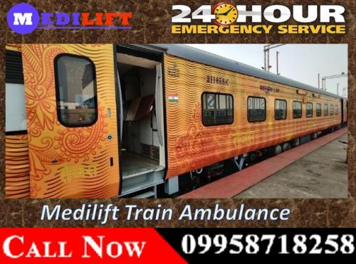 Medilift Train Ambulance Facilities in Patna and Bangalore at Low Cost with Medical Team 01