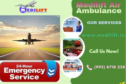 Medilift Air Ambulance in Patna – 24*7 Hours Available
