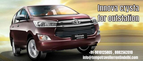 Outstation Tour by Innova Crysta on Hire from Delhi