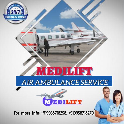 Medilift ICU Emergency Air Ambulance in Delhi