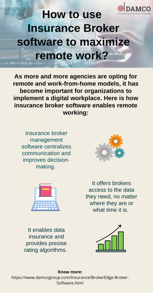How to use insurance broker software to maximize remote work