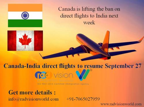 Canada-India direct flights by radvision world