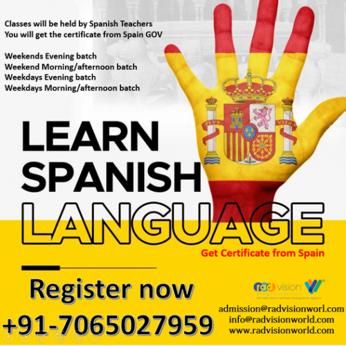 learn spaqnish with Radvision world get Spain GOV sertificate